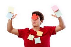 Hombre con los papernotes Fotografía de archivo libre de regalías