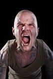 Hombre con los tatuajes Imagen de archivo libre de regalías
