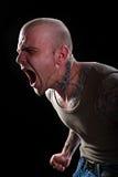 Hombre con los tatuajes Fotos de archivo
