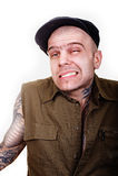 Hombre con los tatuajes Foto de archivo libre de regalías