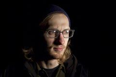 Hombre con los vidrios Imagenes de archivo