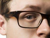 Hombre con los vidrios Foto de archivo libre de regalías