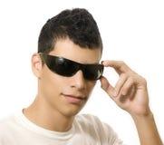 Hombre con los vidrios de sol Imágenes de archivo libres de regalías