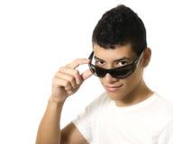 Hombre con los vidrios de sol Imagen de archivo