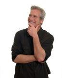 Hombre con sonrisa aprobada Imagen de archivo libre de regalías