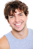 Hombre con sonrisa feliz Imagen de archivo libre de regalías