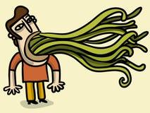 Hombre con tentáculos Imagen de archivo libre de regalías