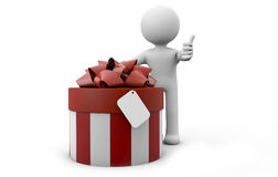 Hombre con un regalo Foto de archivo libre de regalías