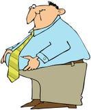 Hombre con una circunferencia grande Imagen de archivo