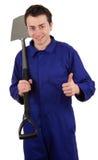 Hombre con una espada Imagenes de archivo