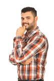 Hombre confiado sonriente Imagen de archivo libre de regalías