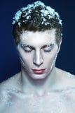 Hombre congelado imagen de archivo
