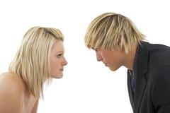 Hombre contra mujer. Fotografía de archivo libre de regalías