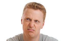 Hombre contrariedad Fotos de archivo libres de regalías