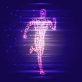 hombre corriente 3D Diseño para el deporte, el negocio, la ciencia y la tecnología Ilustración del vector Cuerpo humano libre illustration