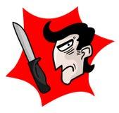 Hombre criminal ilustración del vector