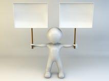 hombre 3D Fotografía de archivo libre de regalías