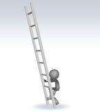 hombre 3d con escaleras ilustración del vector
