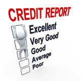 hombre 3d e informe de la cuenta de crédito
