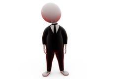 hombre 3d en concepto del traje Imagenes de archivo