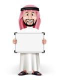 hombre de Arabia Saudita hermoso 3D en vestido tradicional Foto de archivo