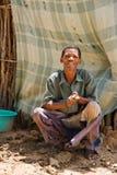 Hombre de Basarwa fotos de archivo