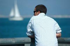 Hombre de Bay Foto de archivo libre de regalías