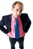 Hombre de Bussines que desgasta la camisa rosada Foto de archivo