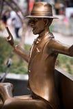 Hombre de cobre amarillo Imagenes de archivo
