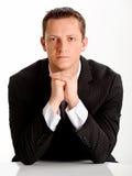 Hombre de Confidentl en juego Imagen de archivo libre de regalías