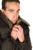 Hombre de congelación Imagen de archivo libre de regalías
