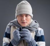 Hombre de congelación Fotografía de archivo libre de regalías