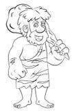 Hombre de cueva Imágenes de archivo libres de regalías