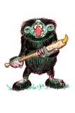 Hombre de cueva Stock de ilustración