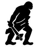 Hombre de cueva antiguo stock de ilustración