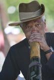 Hombre de Didgeridoo Fotografía de archivo