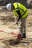 Hombre de Driebergen de la excavación de la arqueología Imagen de archivo libre de regalías