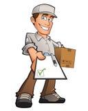 Hombre de entrega Imagenes de archivo