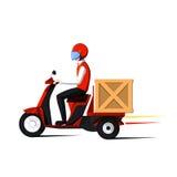 Hombre de entrega rápido Foto de archivo libre de regalías