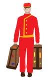Hombre de equipaje Foto de archivo libre de regalías