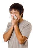 Hombre de estornudo Fotos de archivo