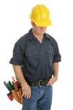 Hombre de funcionamiento anónimo Foto de archivo libre de regalías