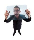 Hombre de griterío Imágenes de archivo libres de regalías