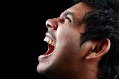 Hombre de griterío Foto de archivo