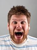 Hombre de griterío enojado Imagenes de archivo