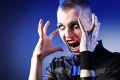 Hombre de grito Imagenes de archivo