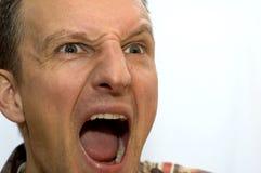 Hombre de grito Foto de archivo