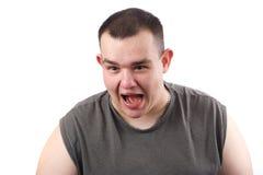 Hombre de grito Fotos de archivo