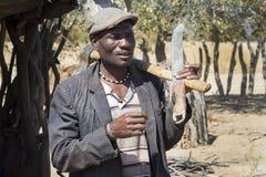 Hombre de Himba Fotos de archivo libres de regalías