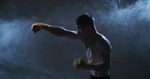 Hombre de Kickboxing almacen de metraje de vídeo